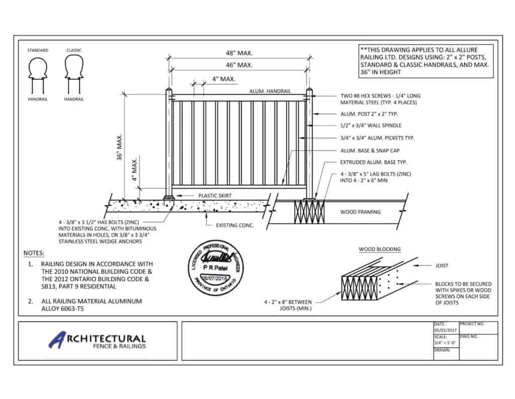 picket railings toronto