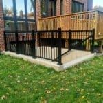 walkout basement railings