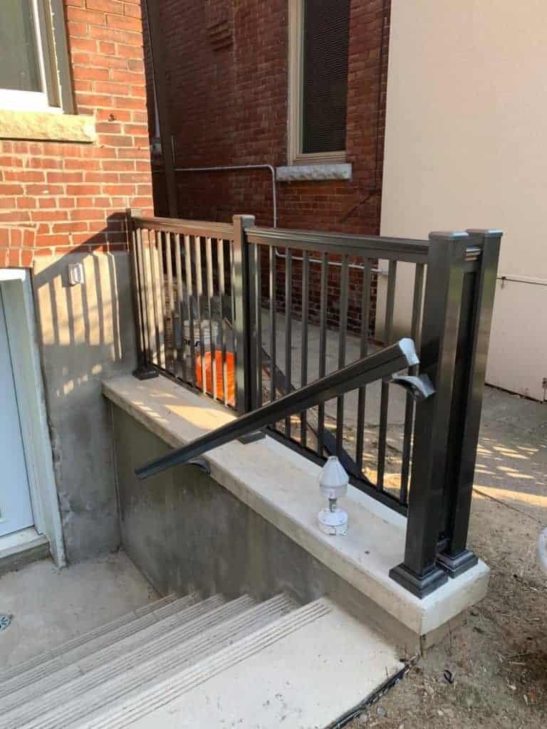 walkout basement railings toronto
