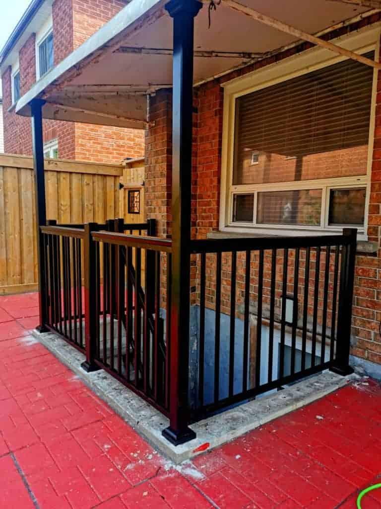 walkout basement railing toronto